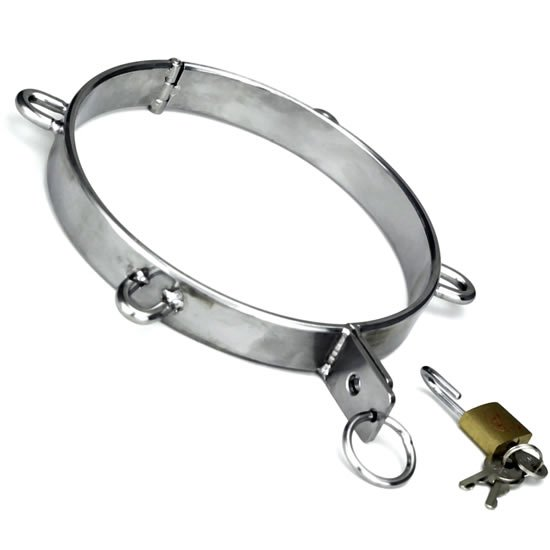 Heavy duty steel bondage collar for sales