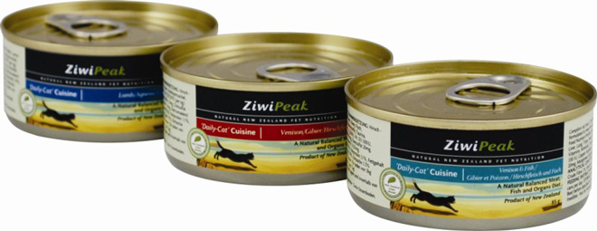 New from ZiwiPeak - 85-gram cans of cat food