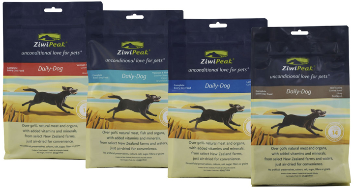 ZiwiPeak Daily Dog convenience pack of air-dried meat