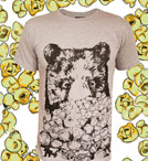 popcorn bear t-shirt with popcorn