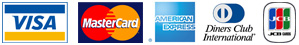 We accpet Visa, Mastercard, American Express, Diners Club and JCB credit cards
