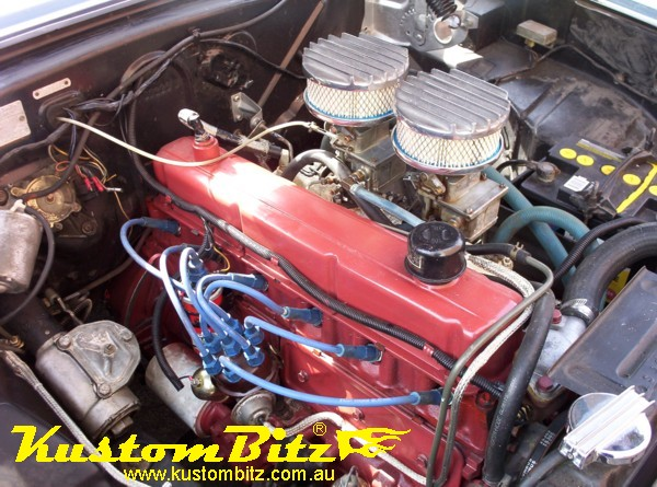 Holden    186 Twin Carb Application  Kustom Bitz  AussieSpeed VIC  Lakes Hot Rod Parts  Hot Rod