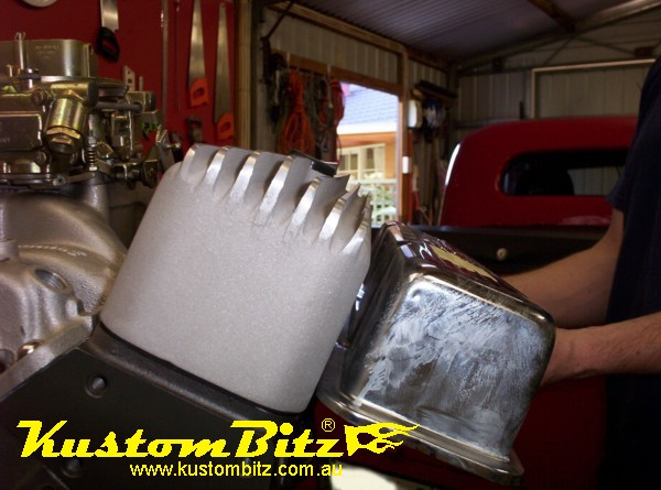 Chev Small Block Finned Valve Covers Raw Compared To Tall Tin Cover