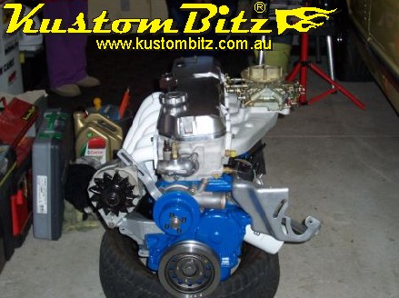 Ford Crossflow Xflow Aussespeed Barrel Manifold Fitted To Engine