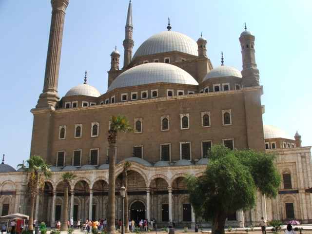 View of one side of the Citidel Mosque above old Cairo.