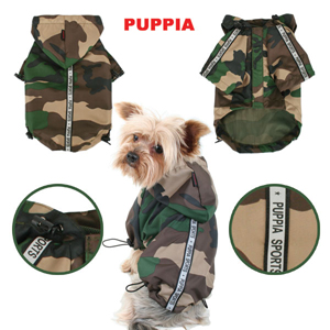 Image of Puppia dog clothes in camo, available from Bowhosue