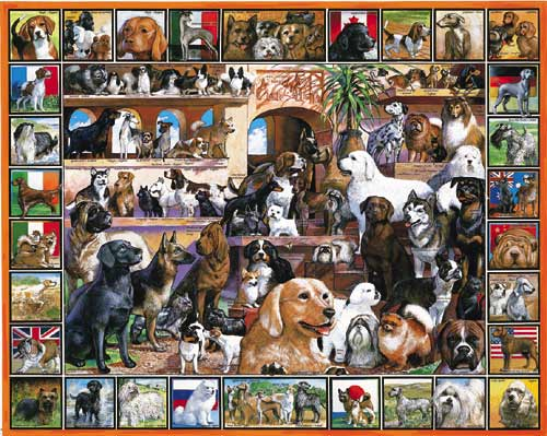World of Dogs - 100 piece jigsaw puzzle