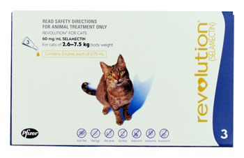 Revolution for Cats - Pack of 3 pipettes of Selamectin