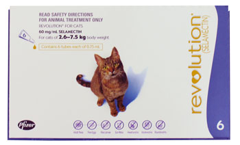 6-pack of Revolution for Cats 2.5 to 7.6kg