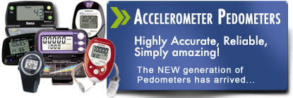 Accelerometer Pedometers accurate and reliable