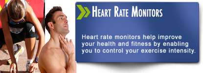 Heart Rate monitors allow you to control yoru exercise intensity to get the maximum reults from your workout