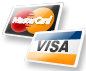 We accepy Visa and Mastercard