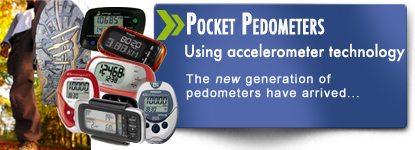 Pocket pedometers for all shapes and sizes