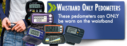 Pedometers and accelerometers for the waistband