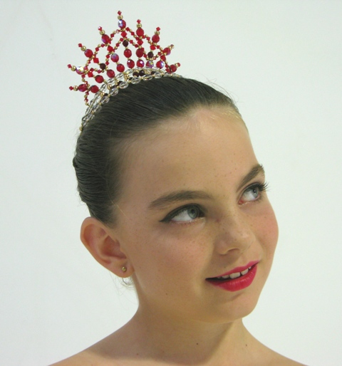 Dance Tiara Headpiece Lil'Princess Ruby Red