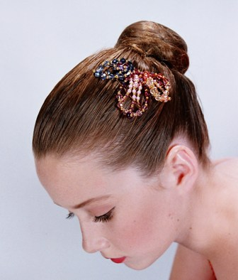 Dance Tiara Side Comb Leaf- Multi Shades