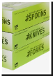 box of 500 biodegradable utensils