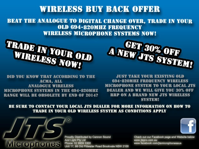 "JTS Wireless Buy Back ""Digital Dividend"" Trade-in offer now on!"