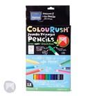 Colourush Triangle Pencil - 12 Pack + Free Sharpener!
