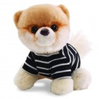ITTY BITTY BOO Striped Outfit The World's Cutest Dog Soft Plush Toy 12.7cm