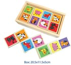 Wooden Animal Dominos 28 piece set
