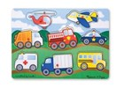 Vehicles Peg Puzzle 8pc 