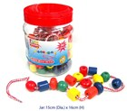 Lacing Beads in a Jar 90 Pieces
