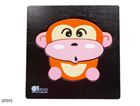 Q Toys Wooden Monkey Mini Puzzle