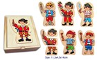 Fun Factory Wooden Dress Up - Pirate Boxed Puzzle 18 Pc.