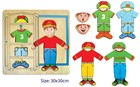 Wooden Wardrobe Dress Up Puzzle - Boys