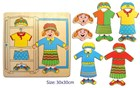 Wooden Wardrobe Dress Up Puzzle - Girls