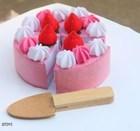 Pink Felt Birthday Cake