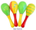 Wooden Musical Maracas - 4 Piece Set