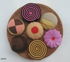 Felt Cakes on a Plate