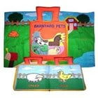 Barnyard Pets Cloth Book with Playmat