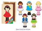 Fun Factory Wooden Dress Up Girls Boxed Puzzle - 18 Pcs.