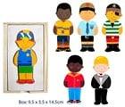 Fun Factory Wooden Dress Up Boys Boxed Puzzle - 18 Pcs.