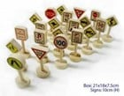 Wooden Traffic Sign Set 21pc Set