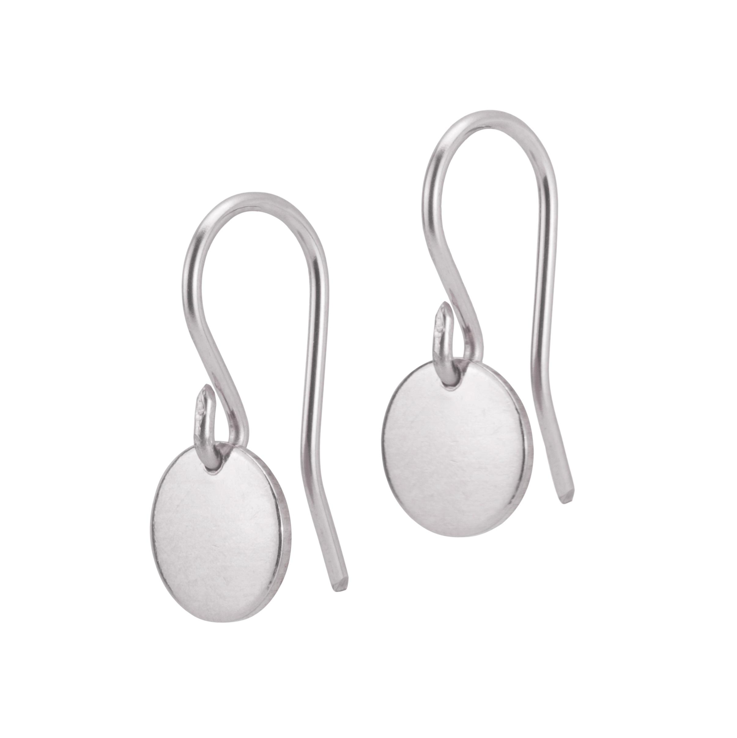 Steriling SIlver disc earrings for everyday wear