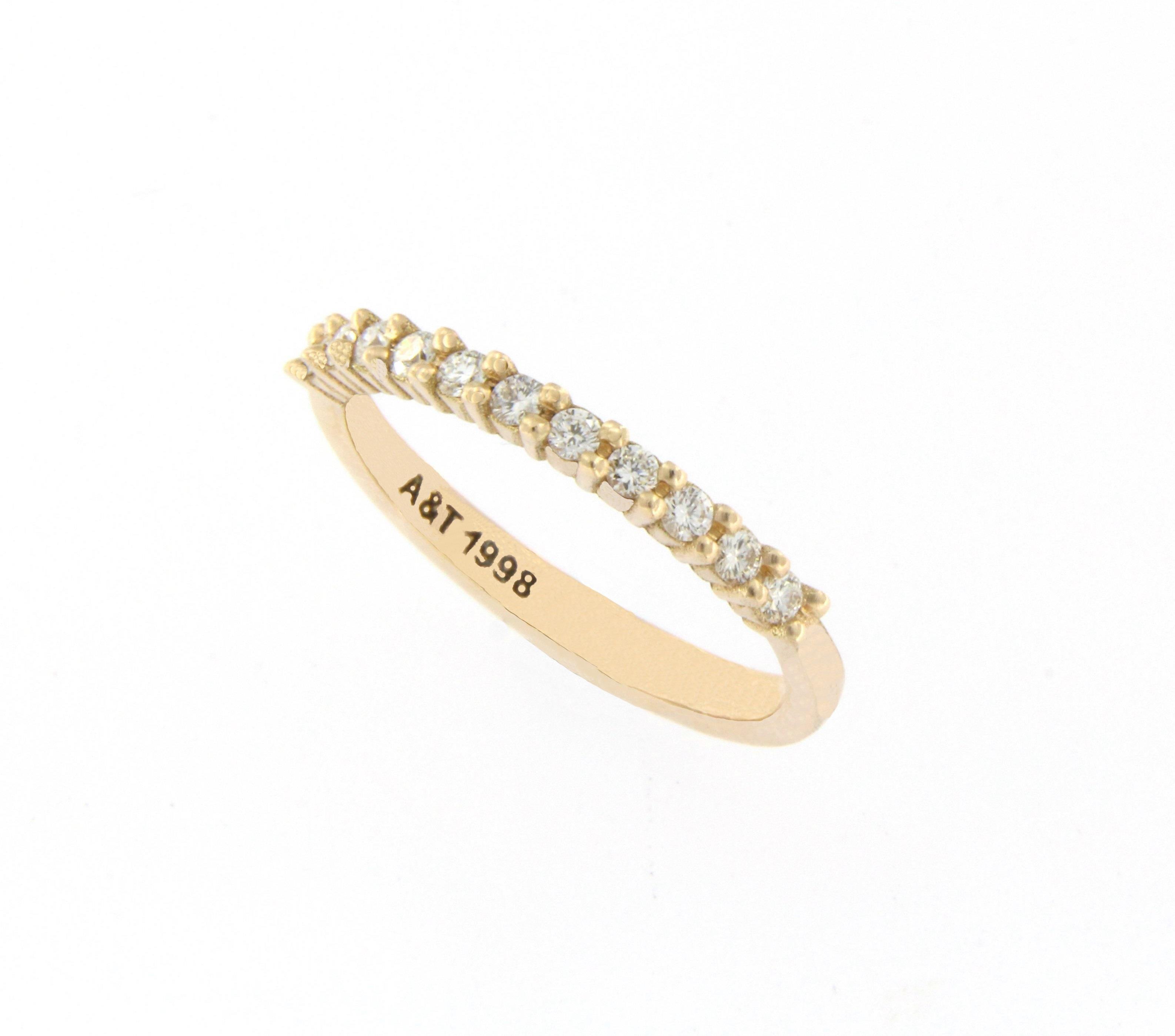 Diamond eternity ring yellow gold