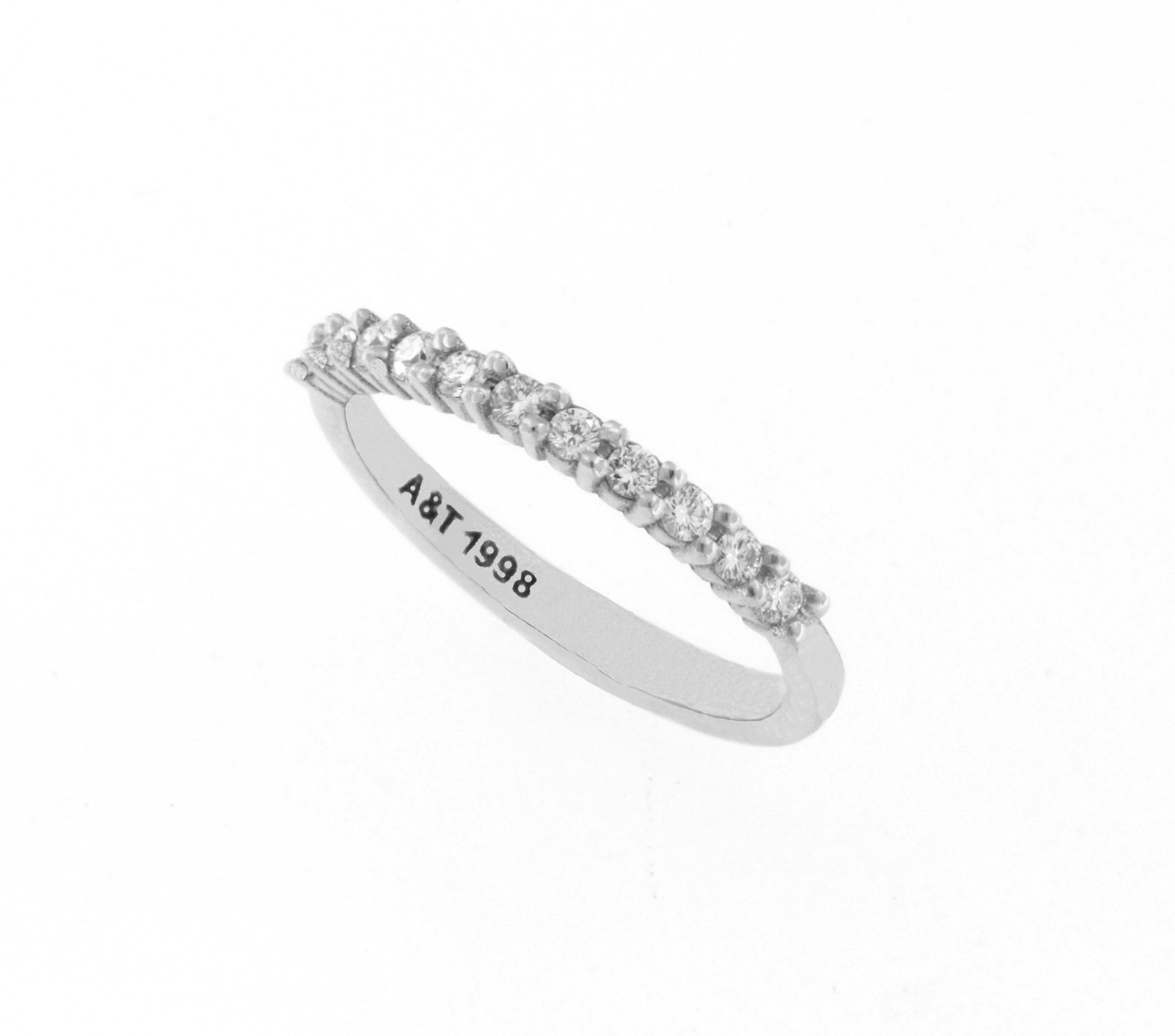 Diamond eternity white gold ring