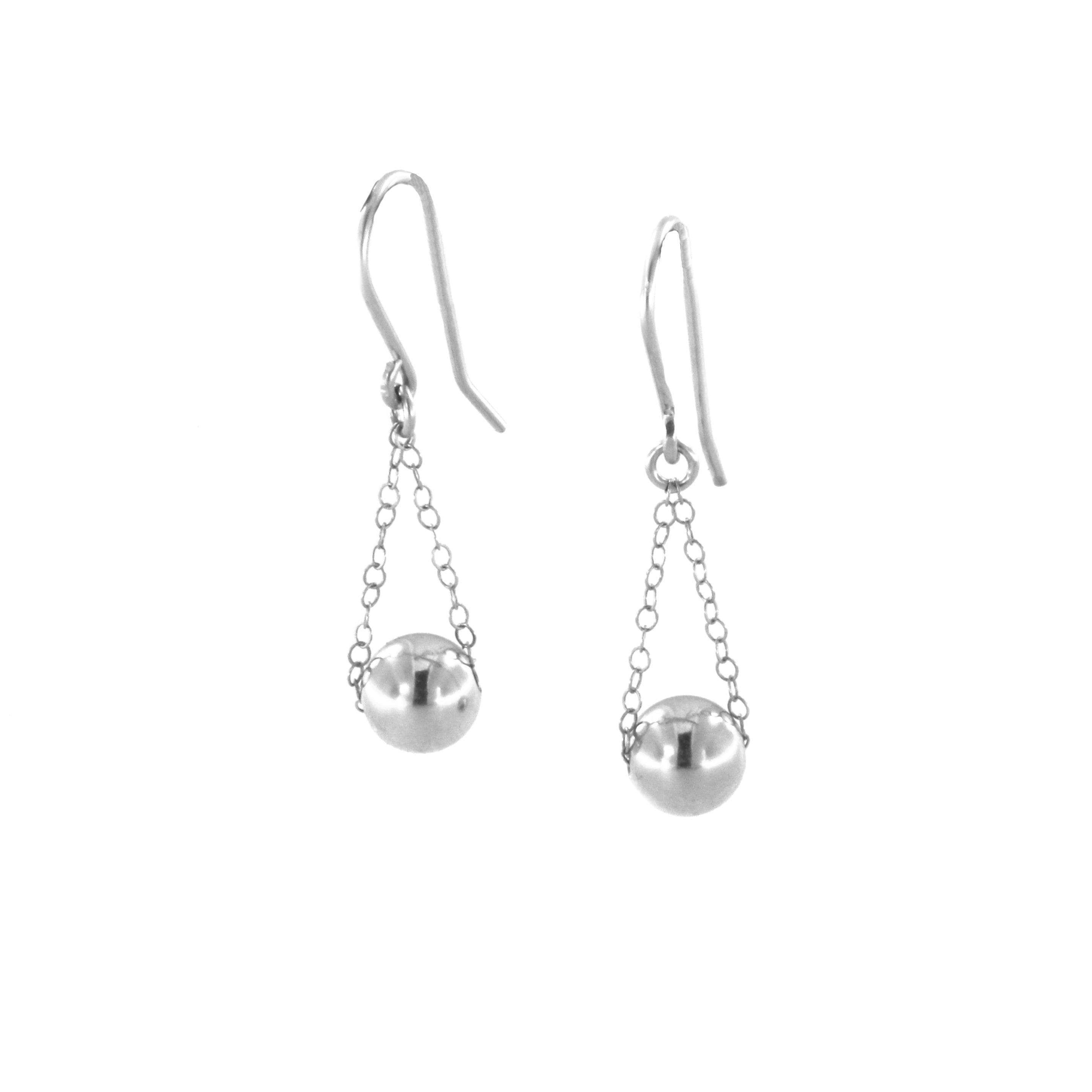 Inspired sterling silver ball earrings