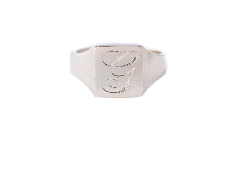 Square Sterling Silver Signet Ring