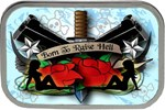 Born To Raise Hell Tattoo Belt Buckle