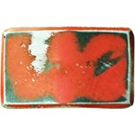 Red Distressed Belt Buckle