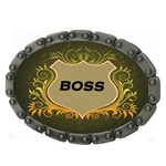 Boss Shield Chain Belt Buckle