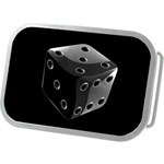 Black Dice Belt Buckle