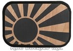 Wood Rising Sun Belt Buckle
