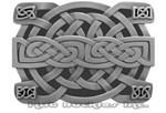 Zinc Celtic Knot Buckle