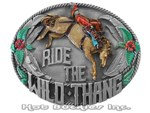 Pewter Enameled Rodeo Buckle 